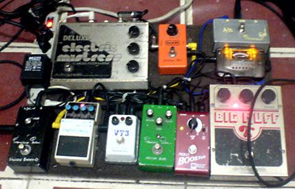 각 기타리스트들의 이펙터 조합
