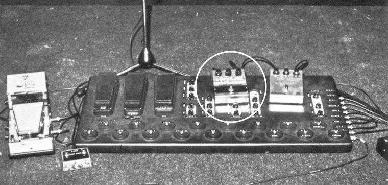David Gilmour - Animals pedalboard