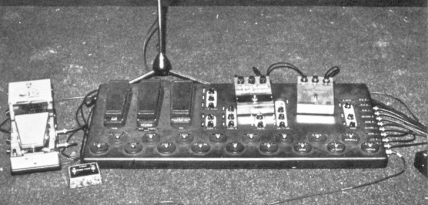 Animals Pete Cornish pedal board