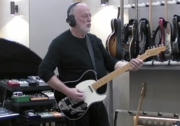 David Gilmour custom Fender baritone Telecaster.