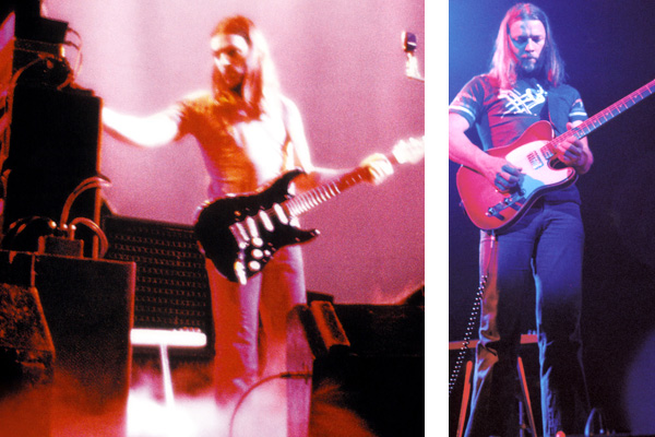 David Gilmour Wembley 1974 Black Strat and Telecaster