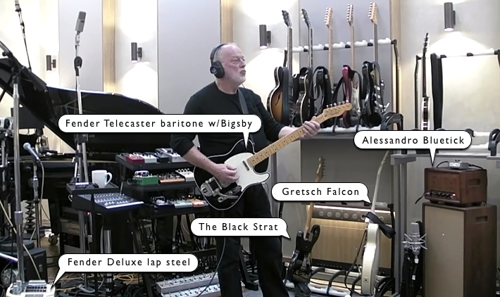 David Gilmour - Endless River gear setup