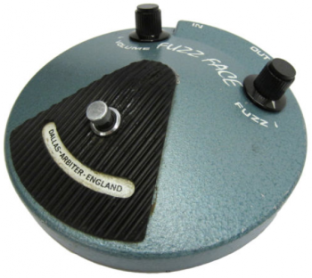 The classic fuzz pedals, including the Dallas Arbiter Fuzz Face, had little compression and mid range but were often used with amps that could compensate for that, like a Marshall or Hiwatt.